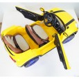 Электромобиль МИНИ двухместный жёлтый