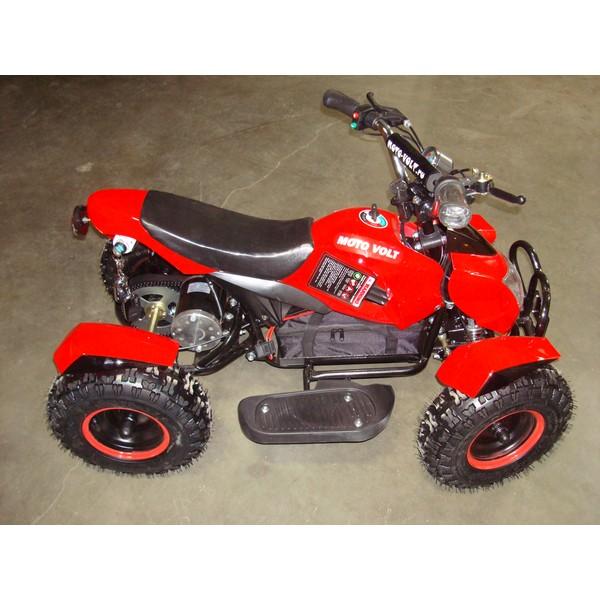 Детский квадроцикл  Муха 800 RC Красная с черными крыльями
