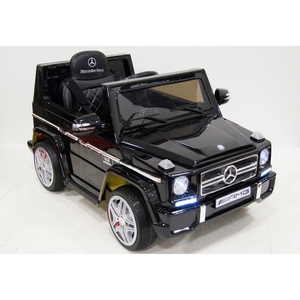Детский электромобиль Mercedes g65 черный глянец