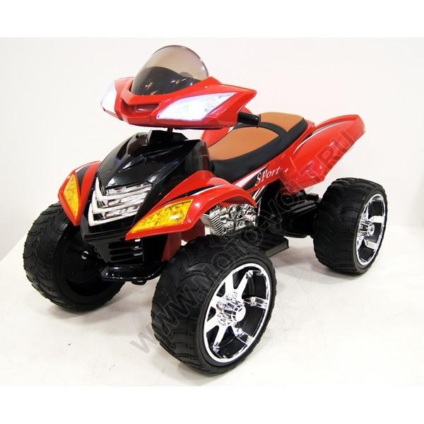 Десткий квадроцикл Rivertoys Е005КХ для детей красный