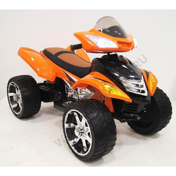 Десткий квадроцикл Rivertoys Е005КХ для детей оранжевый