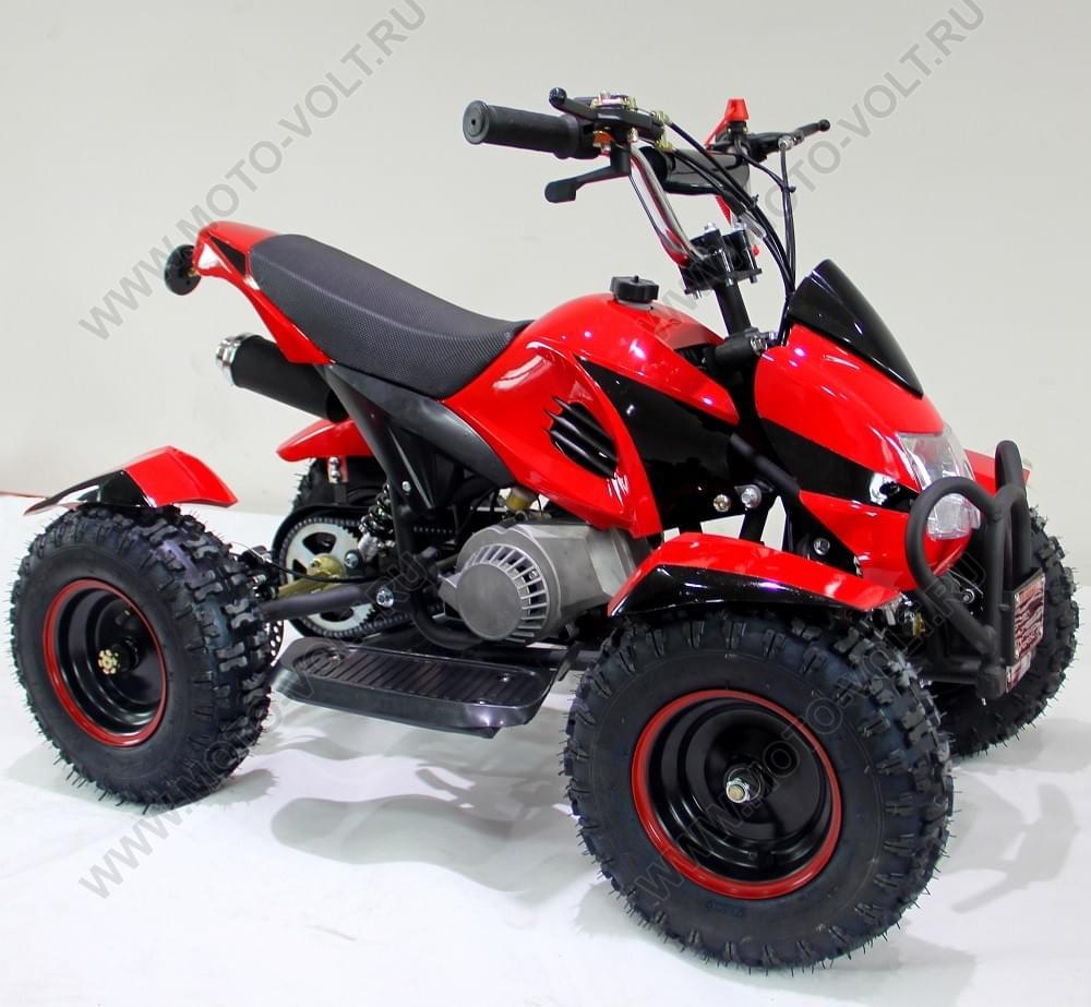 Бензиновый квадроцикл подростковый  МУХА Красный