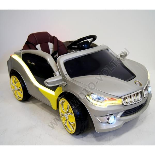 Электромобиль БМВ 8 серебристый детский
