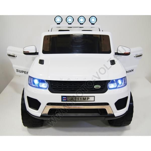 Детский электромобиль на аккумуляторе Rivertoys Лэнд Ровер белый