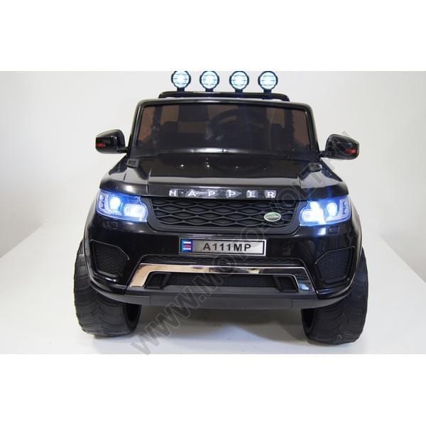 Двухместный электромобиль Лэнд Ровер черный