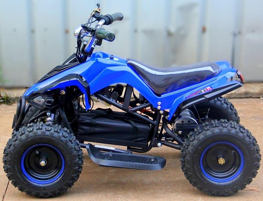 Электроквадроцикл подростковый  Мини Кобра 800 Синяя