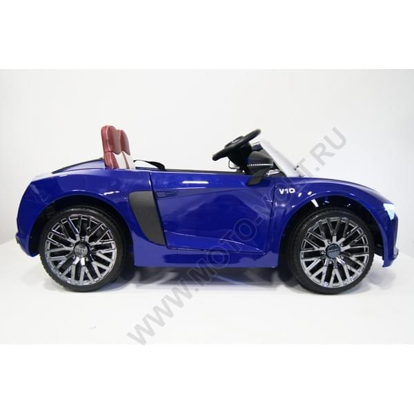 Электромашина AUDI R8 синяя
