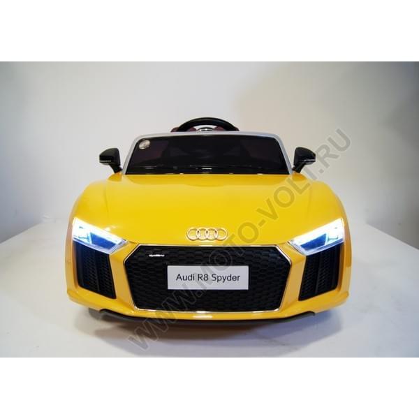 Одноместная машинка AUDI R8 желтая
