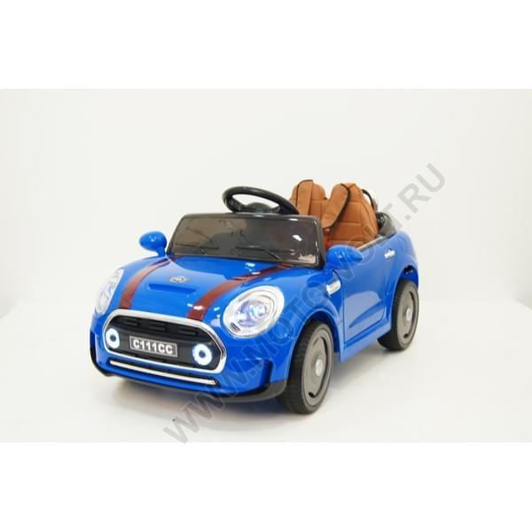 Детский электромобиль на аккумуляторе Rivertoys МИНИ синий