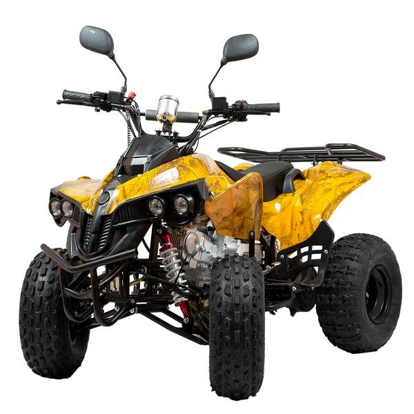 Бензиновый квадроцикл подростковый  Раптор 50R Желтый камуфляж
